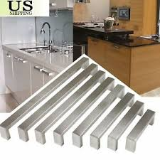 kitchen cabinet door handles and pulls details about 1 2 stainless steel square corner bar kitchen cabinet door handles pull knobs b