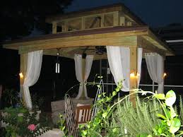 Outdoor Patio Gazebo 12x12 by Outdoor Gazebo Curtains Home Design Ideas And Pictures
