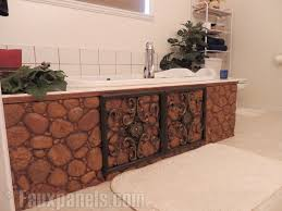 river rock bathroom ideas 30 faux brick and rock panel ideas pictures