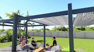 forli model retractable awning patio and deck pergola cover system
