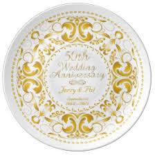 50th wedding anniversary plates memento plates zazzle