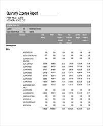Quarterly Expense Report Template by Exle Of Expense Report Nfgaccountability Com
