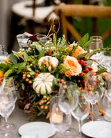 fall centerpieces 66 rustic fall wedding centerpieces martha stewart weddings