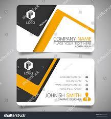 yellow modern creative business card name stock vector 554171572