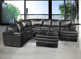 Leather Sectional Sofa With Ottoman by Living Room Interesting Grey Leather Sectional For Modern Living