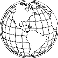 printable planet earth globe coloring page kidscare pinterest