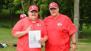 halloween party kansas city 2012 coach andy reid meets faux coach reid at chiefs training camp