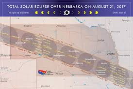 Nebraska State Map by 2017 Total Solar Eclipse In Nebraska