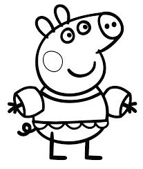 free coloring pages peppa pig peppa 7651 bestofcoloring