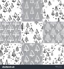 scandinavian seamless pattern christmas tree vector stock vector