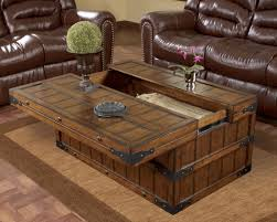Wood Storage Ottoman Captivating Coffee Table Storage Ottoman With Tray For Your Home