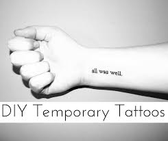 8 diy temporary tattoos to try out tattoo