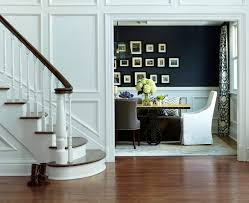decorating staircase walls dining room transitional with dark wood
