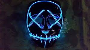 light up blue purge led festival rave party edc halloween costume