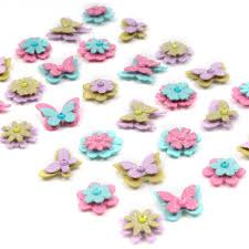 Hobbycraft Christmas Cake Decorations by Hobbycraft Little Birdie Glitter Butterflies And Flowers 30 Pack