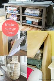 Large Basket For Storing Throw Pillows Remodelaholic 5 Easy Ways To Store Blankets