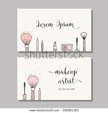 makeup artist business card vector template stock vector 359961365