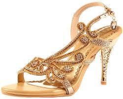 Rhinestone Sandal Heels Amazon Com Littleboutique Crystal Studs Sandal Heels Summer