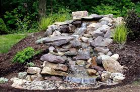 backyard waterfalls fountains how to build a pond with backyard