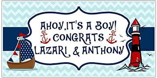 anchor baby shower ahoy it s a boy nautical anchor baby shower banner