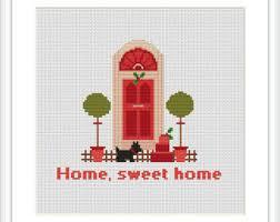 home cross stitch etsy