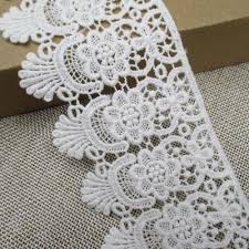 Home Decor Trims Cotton Embroidered Lace Trims Eyelet Fabric Sewing Supply Garment
