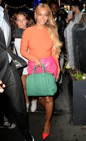 Beyonce in bright colours Daily Express