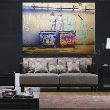 Livingroom Art Online Shop Life Is Short Banksy Canvas Painting Wall Pictures For