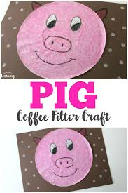 coffee filter crafts kids coffee filter pig craft