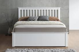 White Ottoman Bed Sleep Wooden Ottoman Bed In White Beds On Legs