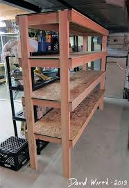 Build A Wood Shelving Unit by Best 25 Garage Storage Shelves Ideas On Pinterest Building