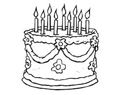 Cake Coloring Page Marvelous Ideas Cake Coloring Pages Cake Birthday Cake Coloring Pages
