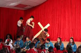 christ the king prepares for easter with passion play christ the
