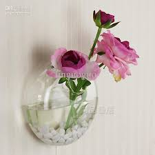 Wholesale Glass Flower Vases Ems Hanging Round Glass Vase High Clear Quality Glass Wholesale