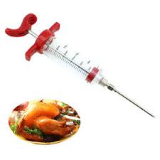 seringue de cuisine 1x aiguille seringue pr sauce barbecue injecteur seringue cuisine