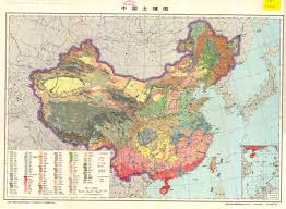 China Physical Map by Soil Map Of China 1976