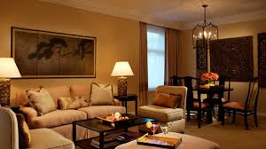 Hotel Room Interior - living in a hotel room with classic luxury living room interior
