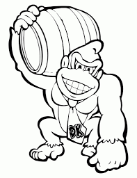 donkey kong coloring pages donkey kong coloring pages diddy kong
