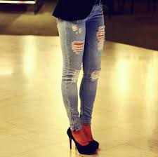 Skinny Jeans With Holes Holes Ripped Light Jeans Shop For Holes Ripped Light Jeans On