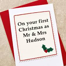 personalised first married christmas card by jenny arnott cards