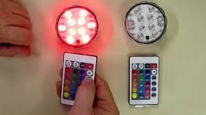 Remote Controlled Light Fixture by Puroma 2 Pack Rgb Submersible Led Lights Remote Controlled 16
