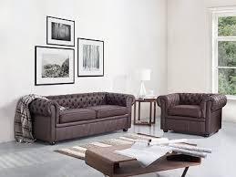 sofa braun chesterfieldsofa beliani at