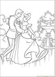 prince dancing cinderella coloring free