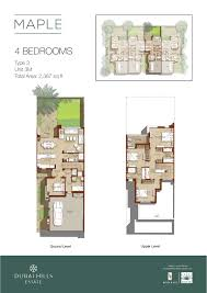 sle floor plans emaar maple iii dubai estate floor plans