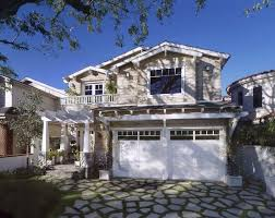 los angeles front porch pergola exterior traditional with garage