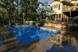 Backyard Pool Images by Shaded Backyard Swimming Pool Landscape Southview Design
