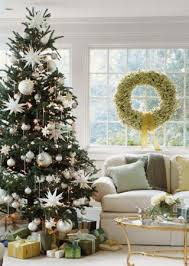 white tree with green decorations happy holidays