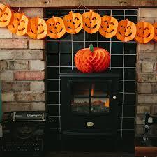 honeycomb pumpkin halloween garland pumpkin face design haliday