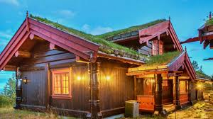 beautiful traditional scandinavian homes with green roofs youtube