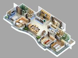 in apartment house plans 4 bedroom apartment house plans 3d floor plans